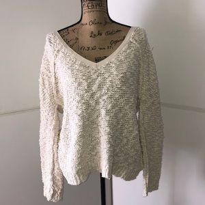Free People Cozy White Sweater